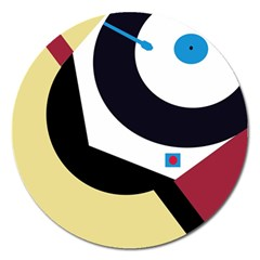 Digital abstraction Magnet 5  (Round)