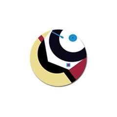 Digital abstraction Golf Ball Marker