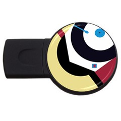Digital abstraction USB Flash Drive Round (2 GB)