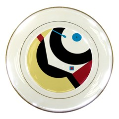 Digital abstraction Porcelain Plates