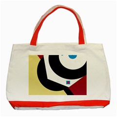 Digital abstraction Classic Tote Bag (Red)