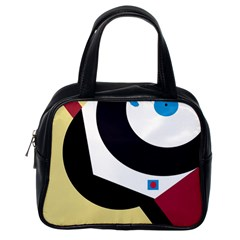 Digital abstraction Classic Handbags (One Side)