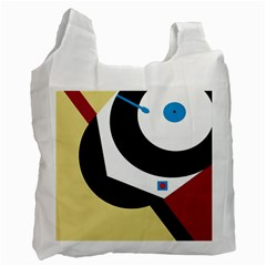 Digital abstraction Recycle Bag (One Side)