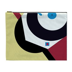 Digital abstraction Cosmetic Bag (XL)
