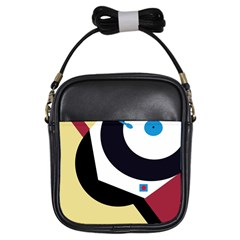 Digital abstraction Girls Sling Bags