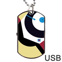 Digital abstraction Dog Tag USB Flash (Two Sides)
