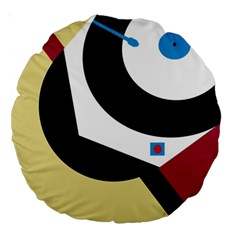 Digital abstraction Large 18  Premium Round Cushions