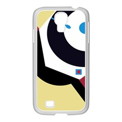 Digital abstraction Samsung GALAXY S4 I9500/ I9505 Case (White)