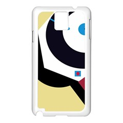 Digital abstraction Samsung Galaxy Note 3 N9005 Case (White)