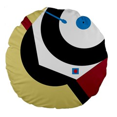 Digital abstraction Large 18  Premium Flano Round Cushions