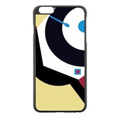 Digital abstraction Apple iPhone 6 Plus/6S Plus Black Enamel Case