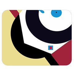 Digital abstraction Double Sided Flano Blanket (Medium)
