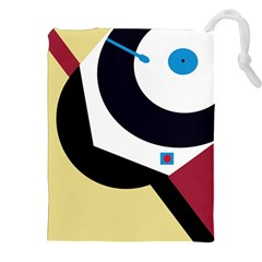 Digital abstraction Drawstring Pouches (XXL)