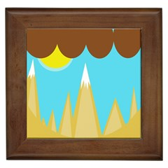 Abstract landscape  Framed Tiles