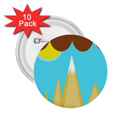 Abstract landscape  2.25  Buttons (10 pack)