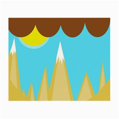 Abstract landscape  Small Glasses Cloth