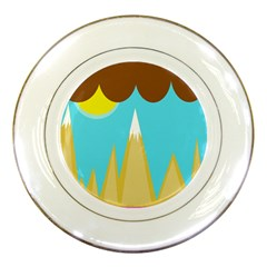 Abstract landscape  Porcelain Plates