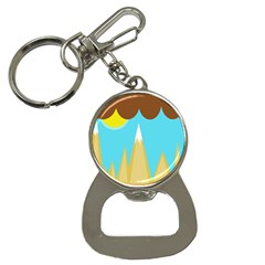 Abstract landscape  Bottle Opener Key Chains