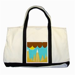 Abstract landscape  Two Tone Tote Bag