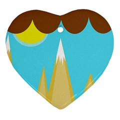 Abstract landscape  Heart Ornament (2 Sides)