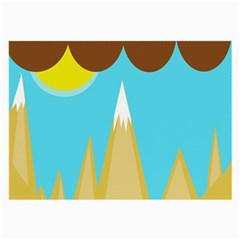 Abstract landscape  Large Glasses Cloth (2-Side)