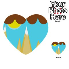 Abstract landscape  Multi-purpose Cards (Heart)