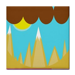 Abstract landscape  Face Towel