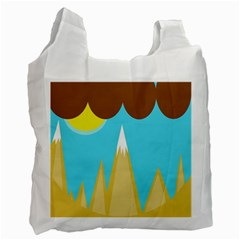Abstract landscape  Recycle Bag (One Side)
