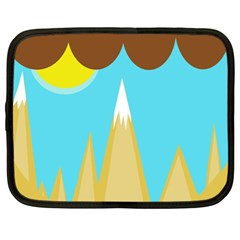 Abstract landscape  Netbook Case (XL)