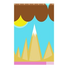 Abstract landscape  Shower Curtain 48  x 72  (Small)