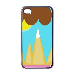 Abstract landscape  Apple iPhone 4 Case (Black)