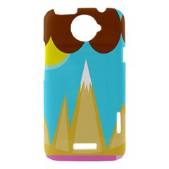 Abstract landscape  HTC One X Hardshell Case