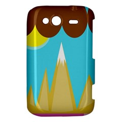 Abstract landscape  HTC Wildfire S A510e Hardshell Case