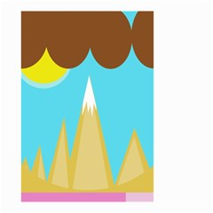 Abstract landscape  Small Garden Flag (Two Sides)
