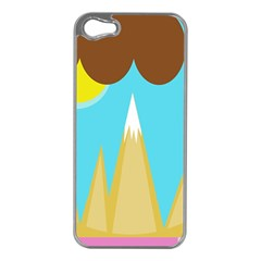 Abstract landscape  Apple iPhone 5 Case (Silver)
