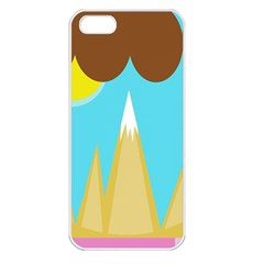 Abstract landscape  Apple iPhone 5 Seamless Case (White)