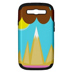 Abstract landscape  Samsung Galaxy S III Hardshell Case (PC+Silicone)