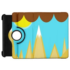 Abstract landscape  Kindle Fire HD Flip 360 Case