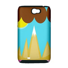 Abstract landscape  Samsung Galaxy Note 2 Hardshell Case (PC+Silicone)
