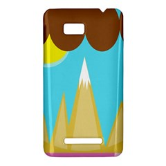 Abstract landscape  HTC One SU T528W Hardshell Case