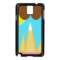 Abstract landscape  Samsung Galaxy Note 3 N9005 Case (Black)