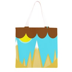 Abstract landscape  Grocery Light Tote Bag