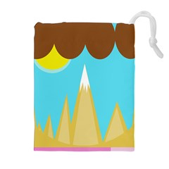 Abstract landscape  Drawstring Pouches (Extra Large)