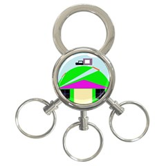 Abstract landscape  3-Ring Key Chains