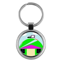 Abstract landscape  Key Chains (Round)
