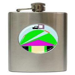 Abstract landscape  Hip Flask (6 oz)
