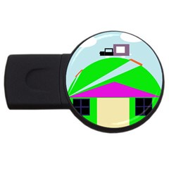 Abstract landscape  USB Flash Drive Round (1 GB)