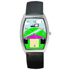 Abstract landscape  Barrel Style Metal Watch