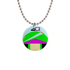 Abstract landscape  Button Necklaces