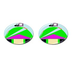 Abstract landscape  Cufflinks (Oval)